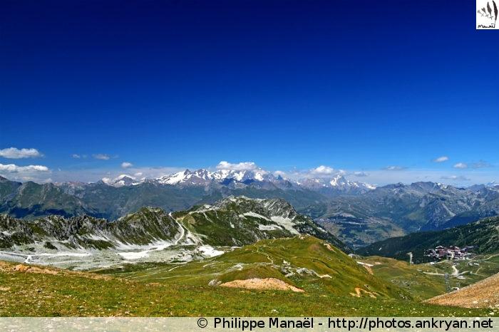 Vallée d'Arc 2000 depuis le col de la Chal, Peisey-Nancroix (Vanoise, Savoie, France)