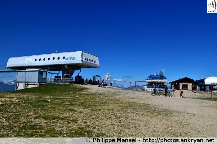Sommet Télécabine Transarc au col de la Chal, Peisey-Nancroix (Vanoise, Savoie, France)