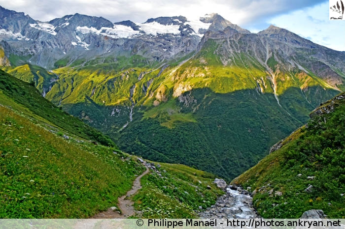 Versant oriental du Grand Bec, Champagny-en-Vanoise (Savoie, France)