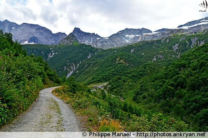 Itinéraire du sentier de Glaciologie, vallée de Champagny-le-haut (Vanoise, Savoie, France)