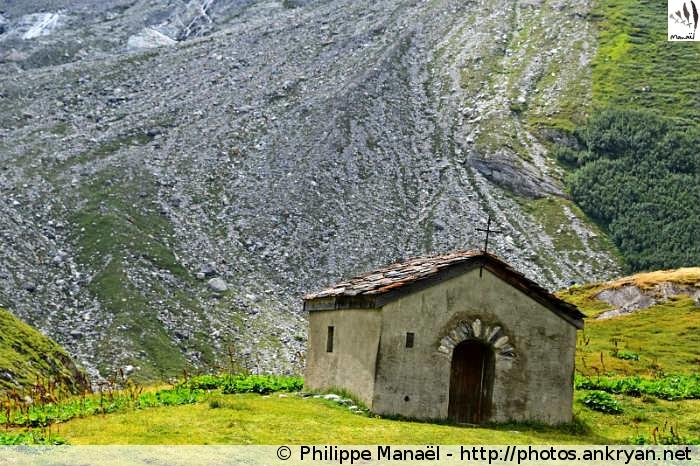 Chapelle de la Glière, vallée de Champagny-le-haut (Vanoise, Savoie, France)