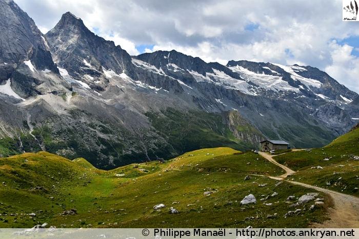 Refuge de Plaisance - Laisonnay d'en Haut - Refuge du Col du Palet (2587 m) (trekking La traversée de la Vanoise). France, Rhône-Alpes, Savoie