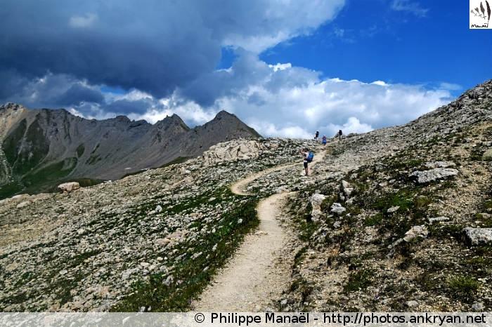 Sentier pour le col du Palet, Peisey-Nancroix (Vanoise, Savoie, France)