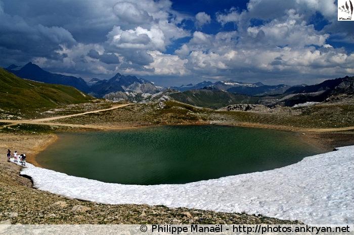 Lac au col du Palet, Peisey-Nancroix (Vanoise, Savoie, France)