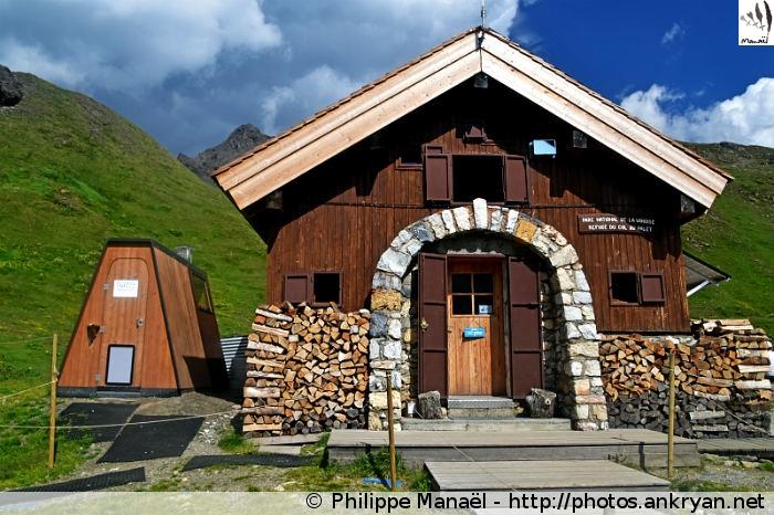 Réfectoire du refuge du Col du Palet, Peisey-Nancroix (Vanoise, Savoie, France)