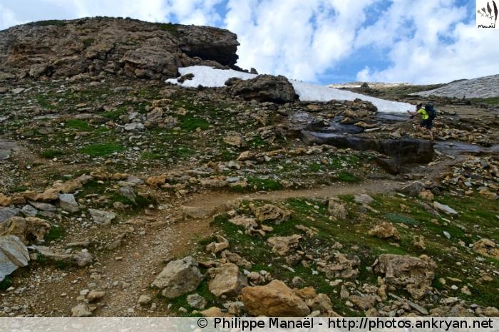 Sentier GR55 du col de la Leisse (Vanoise, Savoie, France)
