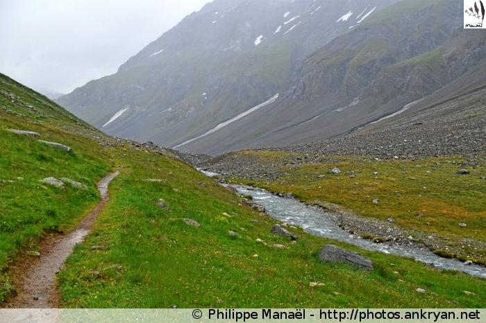 Vallon et torrent de la Leisse (Vanoise, Savoie, France)