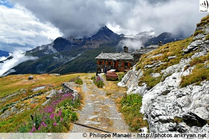 Refuge du Lac Blanc en Vanoise, Plateau de Bellecombe (Savoie, France)