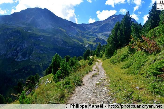 Sentier en-dessous de Plan Sec, Aussois (Vanoise, Savoie, France)
