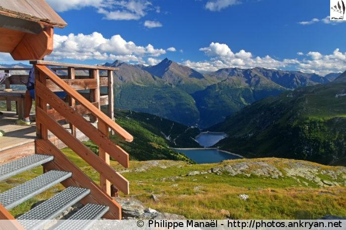 Balcon du refuge de la Dent Parrachée, Aussois (Vanoise, Savoie, France)