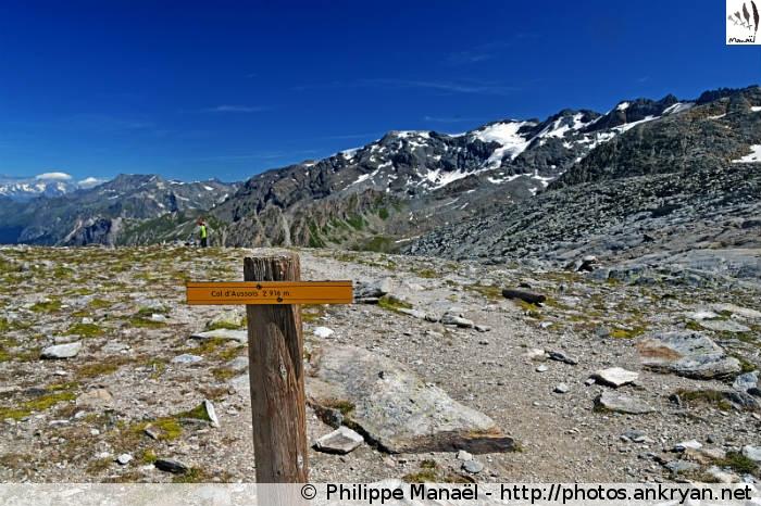 Refuge de la Dent Parrachée - Col d'Aussois - Refuge Le Repoju (1710 m) (trekking Traversée de la Vanoise). France, Rhône-Alpes, Savoie