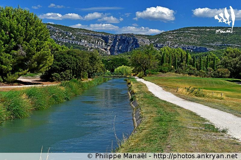 Canal de Carpentras, de L'Isle-sur-la-Sorgue à Fontaine-de-Vaucluse (Provence, Vaucluse, France)