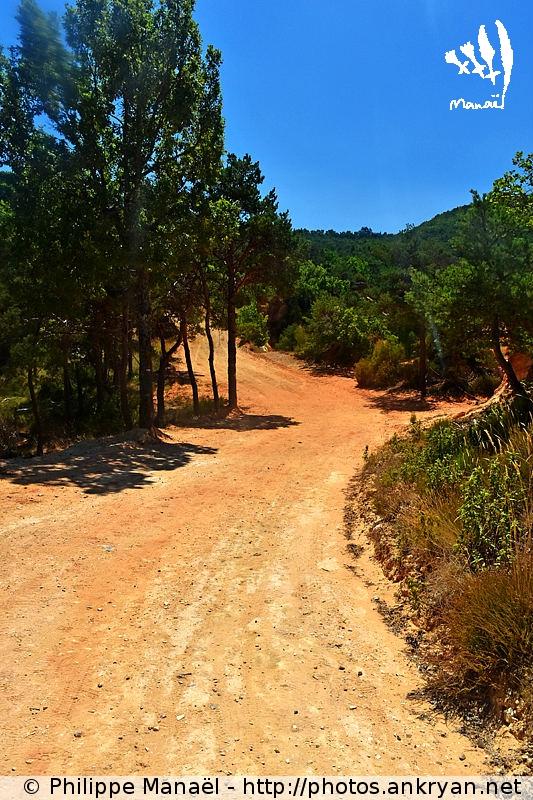 Sentier GR6 - Colorado provençal de Rustrel, Luberon (Provence, Vaucluse, France)