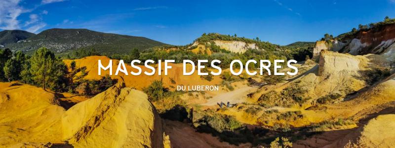 Massif des ocres du Luberon (Vaucluse, Provence, France)