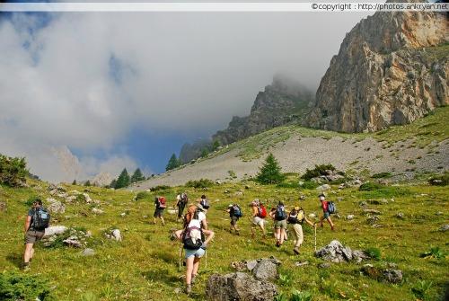 Ascension dans les alpages (Piémont, Italie)