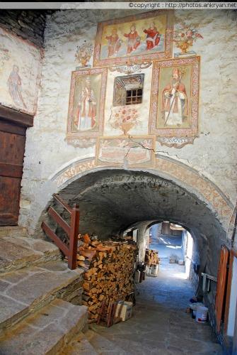 Fresque murale, Hameau de Prafauchier (Piémont, Italie)